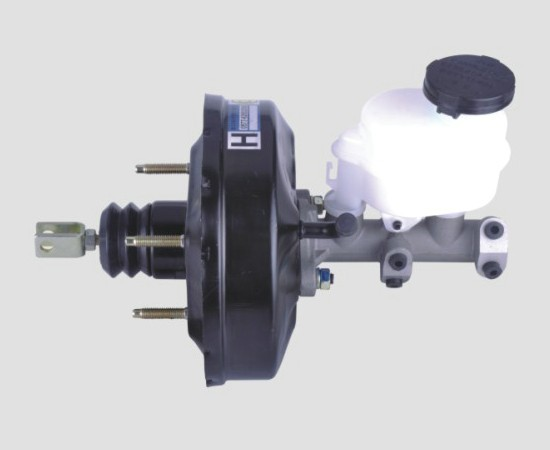 哈飞路宝真空助力器带刹车总泵总成 汽车配件 转向系统及配件 助力器 高清图片